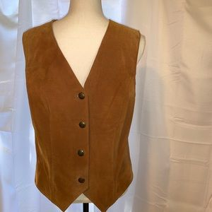 Vintage Bagatelle Leather Vest, sz M